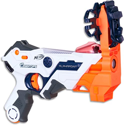 NERF - Laser Ops - Electronic AlphaPoint Blaster - The Ultimate Laser Game - Blaster, Armband, Solo Attachment - Kids...