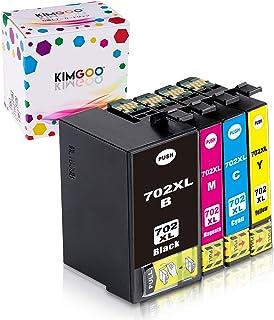 Kimgoo Remanufactured Ink Cartridge Epson 702XL 702 XL Compatible with Epson Workforce Pro WF-3720 WF-3730 WF-3720DWF WF-3...
