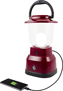 Enbrighten 29923 LED Camping/Emergency Lantern, Battery Powered, 800 Lumen, 200 Hour Run Time, Red | USB Charging