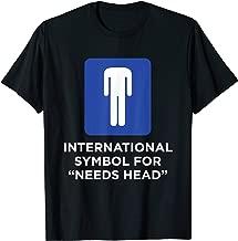 Funny International Symbol for Needs Head T-Shirt