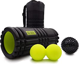 KALAHARI Foam Roller SET – Massagerol, Dubbele bal en Massagebal. Voor Triggerpointtherapie en Myofasciale Massage. Handig...