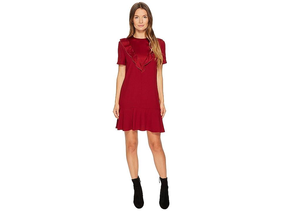 RED VALENTINO Crepe Envers Satin Dress (Cherry) Women