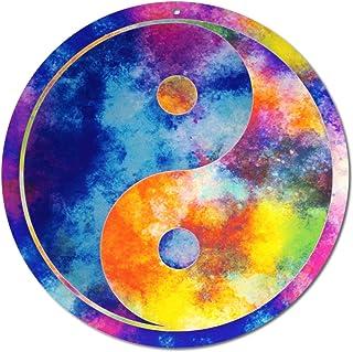"Idea regalo"" Yin e Yang"" Suncatcher n. 19. Ø 40 cm · Natale Compleanno · simbolo opposti · dì""Grazie · appendiabiti per fi..."