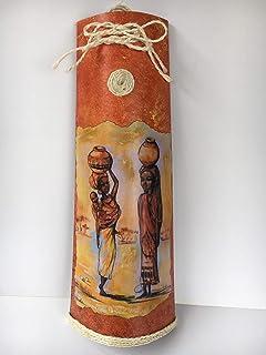 Teja decorativa con motivos de áfrica