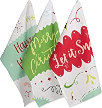 "DII Cotton Christmas Holiday Dish Towels, 18x28"" Set of 3, Decorative Oversized Kitchen Towels, Perfect Home and Kitchen Gift-Winter Wishes"