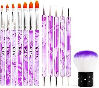 13 PCS UV Gel Acrylic Nail Art Brush Set, Sportsvoutdoors Nail Art Tools with Nail Art Tips Builder Brush, Nail Painting Brush Pen, Nail Art Dust Remover Brush, Nail Salon Home Use, Women Girl Gift