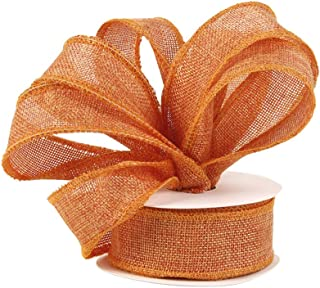 """SHEER FALL//HALLOWEEN//EVERYDAY RIBBON 1 1//2/"""" BURNT ORANGE~ BY THE 5 YARDS,CRAFTS"""