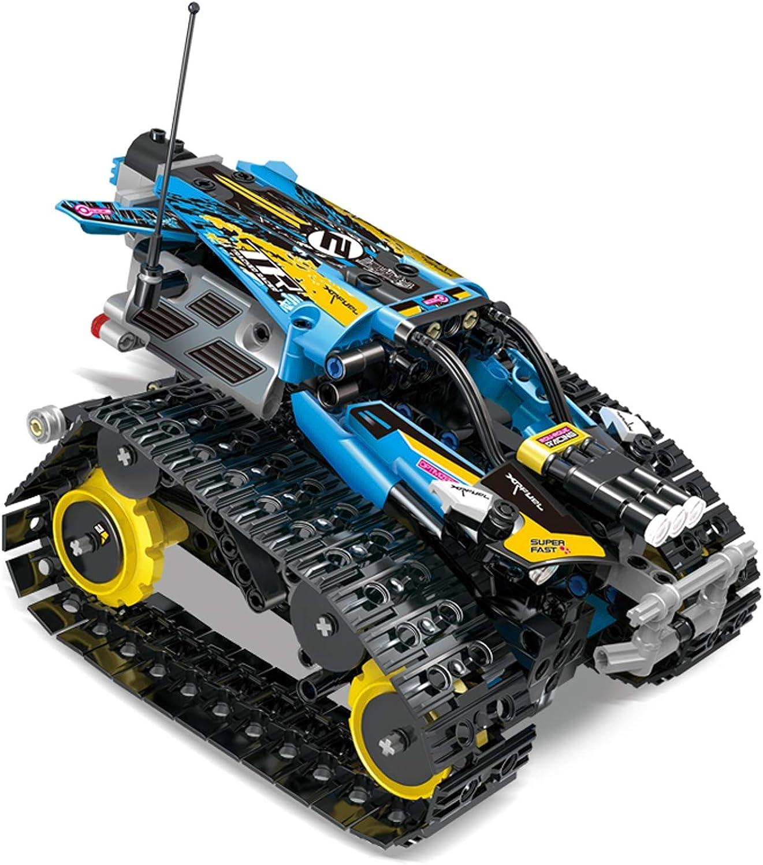 XUMING Tracked Racer costruzione giocattolo, 2.4G Remote Electric Tracked Stunt Racing, Kit da Corsa Fai da Te per Bambini, uomoiglia Telecouomodo e Controllo App,gituttio