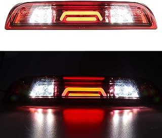 for 2014-2018 Chevrolet Chevy Silverado/GMC Sierra 3rd Third Brake Light Tail Lamp High Mount Cargo Lights (Red Lens)