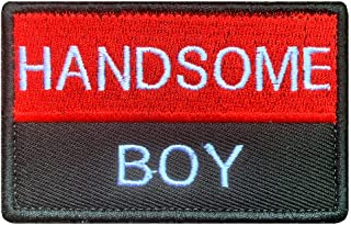 Tactical Handsome Boy Patch, Funny Handsome Boy Patches with Hook and Loop for Attach to Boys Mens Clothes Clothing Caps J...