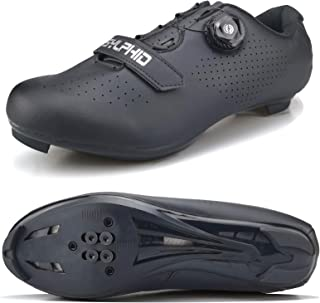 Sponsored Ad - SYLPHID Men's Cycling Shoes Women's Road Bike Spin Shoes, Unisex Riding Sneaker Compatible with+SPD Cleats for Outdoor Lock Pedal Bike