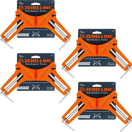 ZERO-LINE コーナー クランプ 4個セット ZLSQ-3 木工 直角 90度 最大固定幅75mm