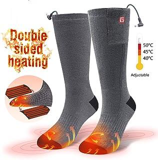 Calcetines Térmicos Eléctricos - Tres Clase del Temperatura Calcetines Calentadores para Esquiar, Aire Libre Deporte de Hombre, Mujer