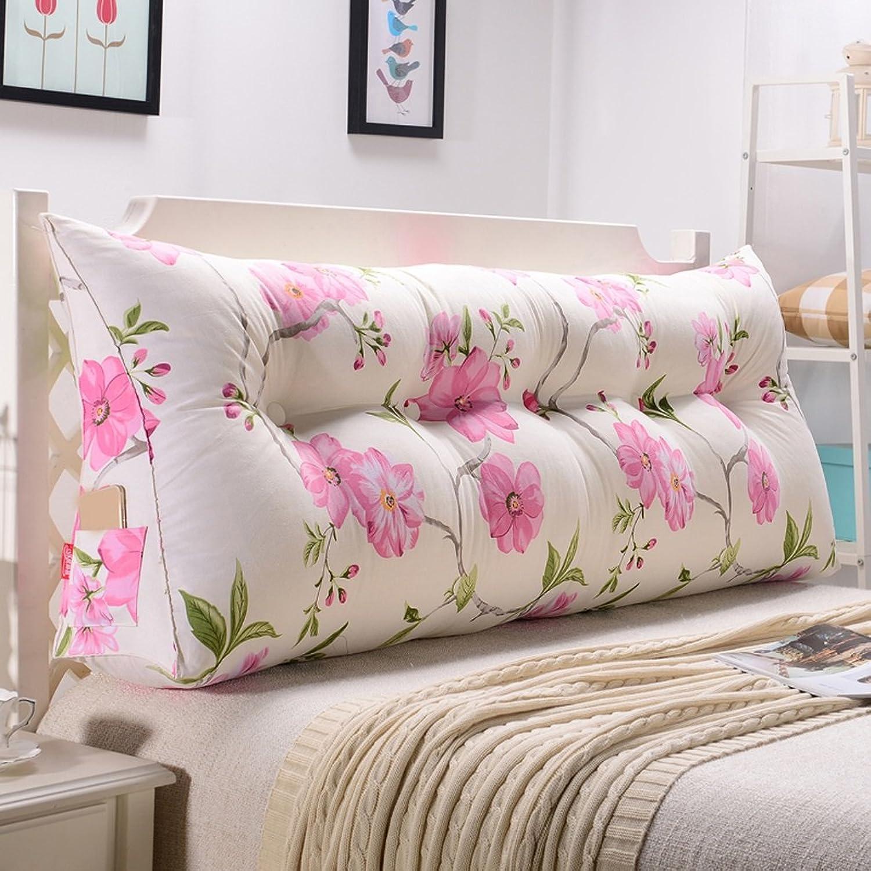MEILING Fleurs roses coussins triangulaires coussin oreiller oreiller canapé dossier taille (taille   200cm)