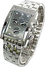 Oskar Emil Gents Rodez Steel 7 Diamond Chronograph Watch with Grey Dial RRP $540