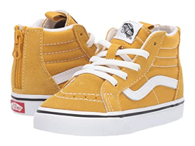 Vans Kids Sk8-Hi Zip (Infant/Toddler) (Arrowwood/True White) Boys Shoes