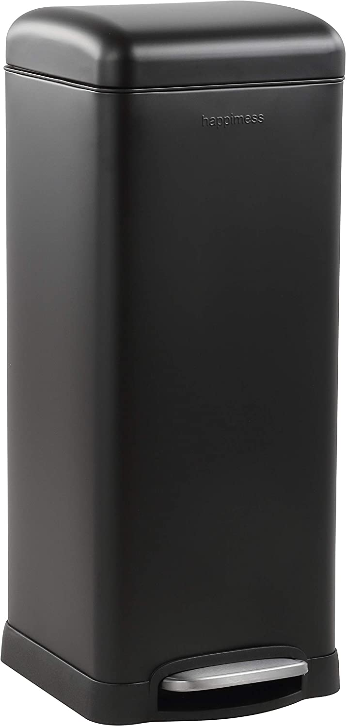 happimess Colorado Springs Mall HPM1007B Open Max 52% OFF Durable Steel Sof Bin with Garbage Pedal