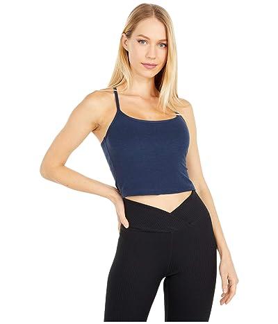 Beyond Yoga Spacedye Slim Racerback Cropped Tank Top (Nocturnal Navy) Women