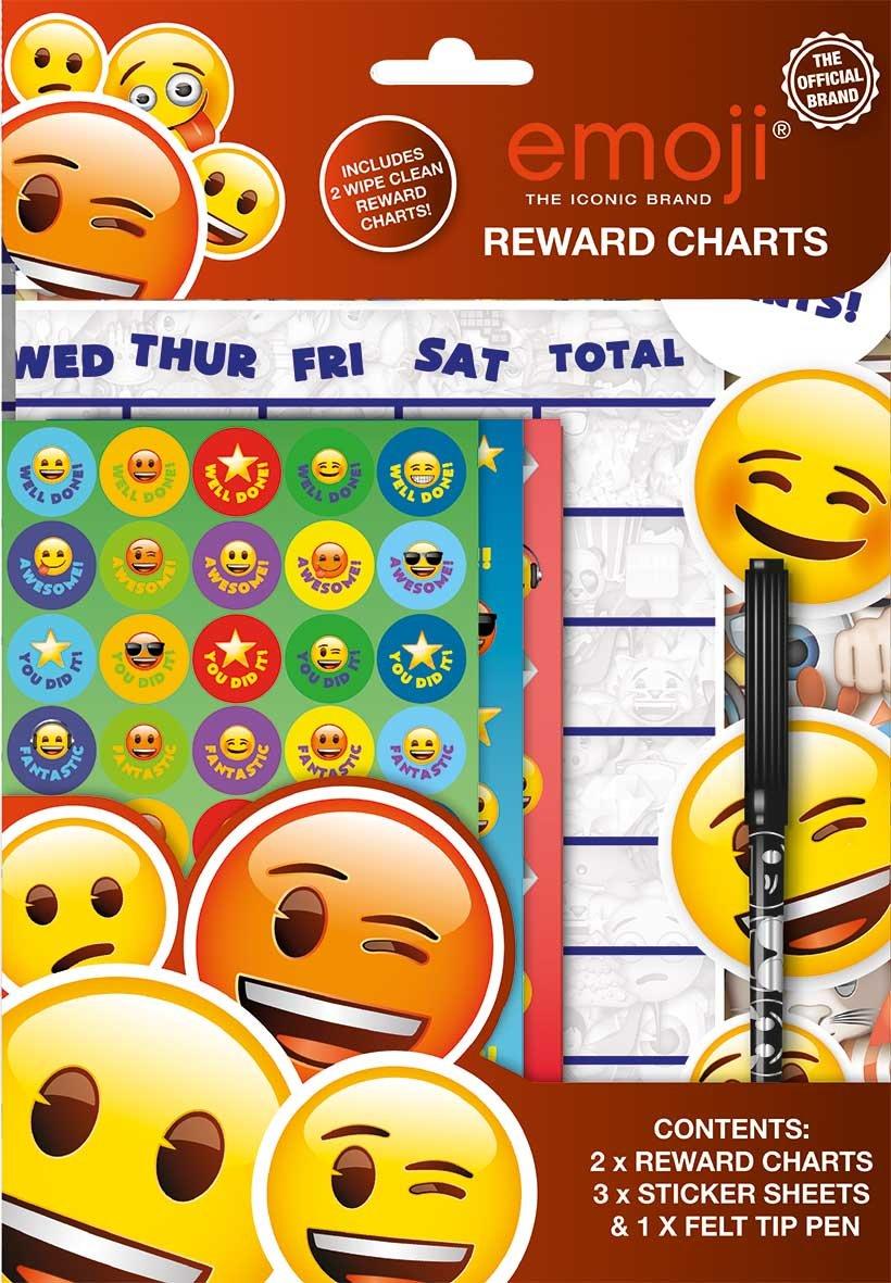 6 Reward Behaviour Charts With 6 Sticker Packs Plus Felt Tip Pen Weekly Stars