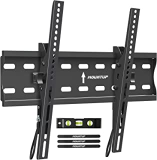 MOUNTUP Tilting TV Wall Mount Bracket for 26-55 Inch Flat Screen TVs/Curved TVs, Low Profile TV Wall Mount TV Bracket - Ea...
