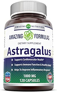 Amazing Formulas Astragalus All Natural Dietary Supplement – 1000 mg Capsule Capsules Made from Pure Astragalus Membranace...