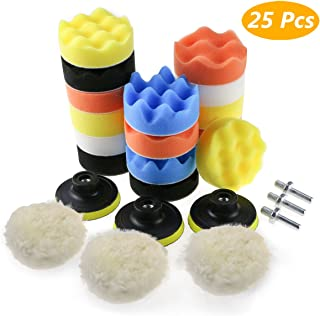 HeyFun 6 Pack 150mm Car buffer For Drill /& Polishing Pads Sponge Woolen Polishing Bonnets Waxing Buffing Pads Kits with M14 Drill Adapter Attachment