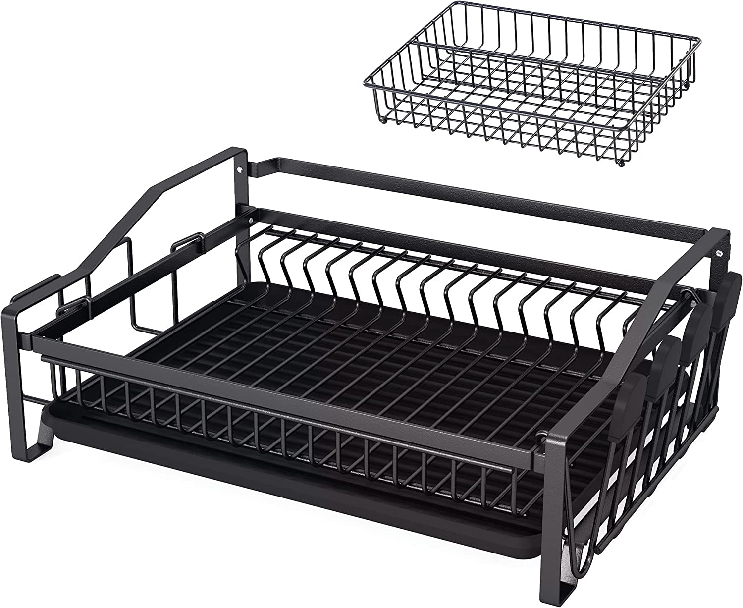 Dish Topics on TV Drying Rack 1Easylife Drainer Max 49% OFF Set with Cutlery Spice