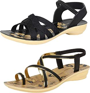 Shoefly Woman's Multicolor-Combo-(2)-983-982 Sandals & Floaters