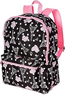 Justice For Girls Paris Print School Backpack