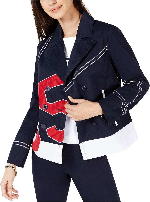 Tommy Sale Hilfiger Womens Colorblocked Jacket Logo Finally resale start