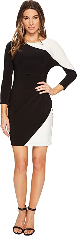 Petite Timber Two-Tone Matte Jersey Dress