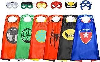 ATOPDREAM Cape de Super Heros pour Enfants - Cadeau de Vacances pour Enfants - Super Héros Habiller/Enfants Deguisements/A...