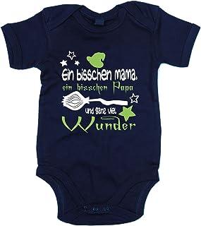 shirtdepartment Baby Body - Ein bisschen Mama, ein bisschen Papa und ganz viel Wunder