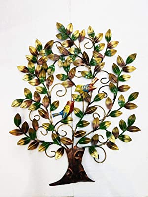 Collectible India Metal Wall Hanging Sculpture (31 x 24 inch, Multicolour)