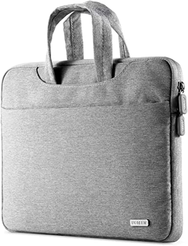 2021 UGREEN 15.6 Inch Laptop and Tablet Case - Laptop Shoulder Bag Business Briefcase Laptop Bag - Compact Tablet Computer Carrying case outlet online sale with Accessory lowest Storage Pockets Gray outlet sale