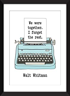 Walt Whitman We Were Together I Forget the Rest - Unframed Print/Sin Marco