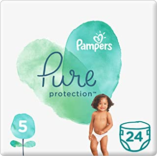 Pampers Pure Protection Diapers, Size 5, +11kg, 24 Count