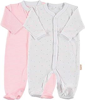Pack de 2 Pijamas de Manga Larga para bebé 100% algodón Pima Talla 3-6 Meses
