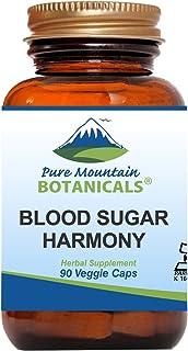 Blood Sugar Harmony 90 Kosher Capsules with Organic Cinnamon Bark, Nopal Cactus, Gymnema Herb, Fenugreek Seed & Chromium