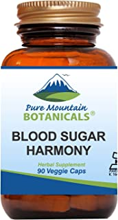 Blood Sugar Harmony 90 Kosher Capsules with Organic Cinnamon Bark, Nopal Cactus, Gymnema Herb, Fenugreek Seed & Chromium