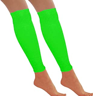 Redstar Fancy Dress - Beinstulpen - 80er Jahre Tanzparty - Retro Kostüm-Accessoire - Neonfarben - Grün