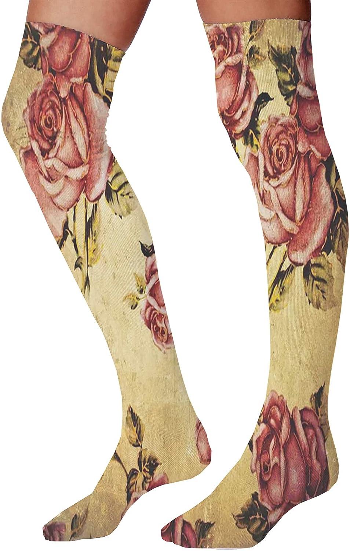 Men's and Women's Fun Socks,Old Wooden Timber Oak Barn Door Farmhouse Countryside Rural House Village Artsy Print