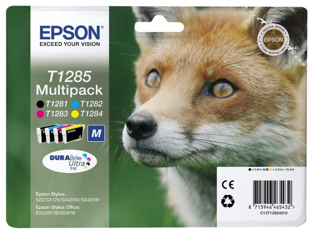 Epson DURABrite Ultra T1285 - Pack de 4 cartuchos de inyección de tinta, Noir, Jaune, Magenta, Cyan: Epson: Amazon.es: Oficina y papelería