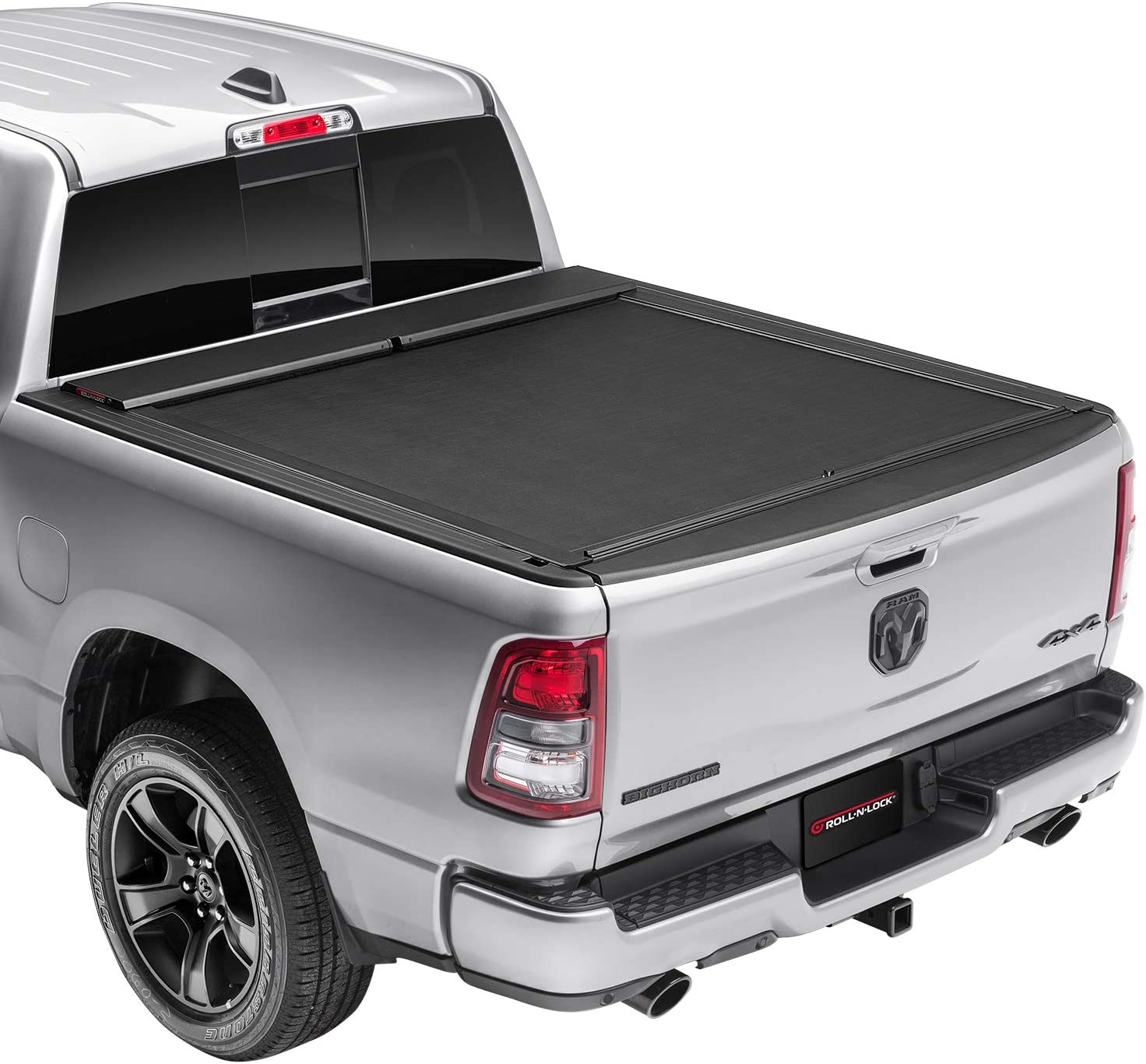 """Roll-N-Lock M-Series Retractable Truck Bed Tonneau Cover   LG456M   Fits 2012 - 2018, 19/20 Classic Dodge Ram 1500 w/RamBox 6' 4"""" Bed (76.3"""")"""