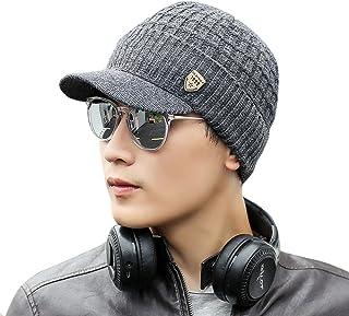 Naiflowers Fashion Unisex Men Women Teens Winter Warm Outdoor Sports Knit Ski Crochet Slouch Cap Beanie Hip-Hop Solid Hat