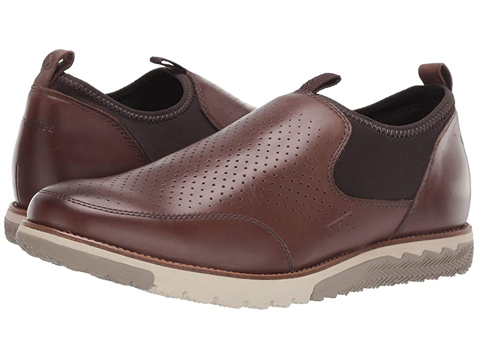 Hush Puppies Expert Perf Slip-On (Saddle Brown Leather) Men