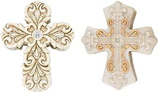 Needzo Vintage Design Cross Trinket Box Bundle with Baroque Design Cross Trinket Box