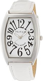 [フランクミウラ] 腕時計 フランク三浦 アナログ 零号機 グレコローマンスタイル400戦無敗 記念モデル 革ベルト FM00K-W メンズ ホワイト