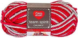 RED HEART Team Spirit Chunky Yarn, Red/Grey