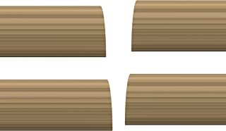 STORMGUARD 02AM0070914LWO Internal Foam Under The Door Draught Excluder Seal, Light Oak, 914 mm, Set of 4 Pieces